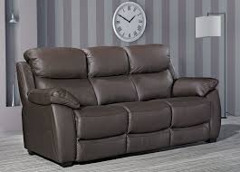 Leather 3 Seater Sofas Buy Furniture Link Lucca Brown Leather 3 Seater Sofa Cfs Uk