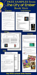 the city of ember book activities english classroom teaching