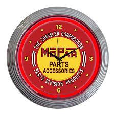 shop neonetics mopar red vintage analog round indoor wall clock at