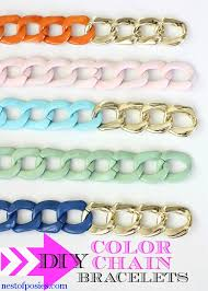 bracelet chain diy images Diy chunky color chain bracelets nest of posies jpg
