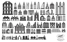 free silhouette images building silhouettes vector eps free download logo icons clipart