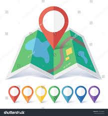 Map Marker Vector Flat Map Marker Symbols Colors Stock Vector 375364684