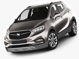 buick encore 2017 white buick encore 2017 3d model cgtrader