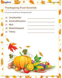 thanksgiving food scramble thanksgiving activities for