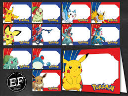 24 pokemon food tent cards instant download printable pokemon
