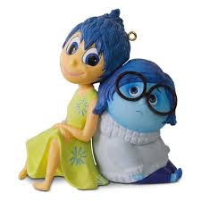 disney pixar legends inside out and sadness ornament