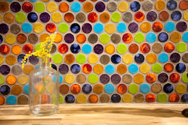 Multi Color Backsplash Tile by Penny Round Tile In Kitchen Eclectic With Multicolored Tile Next