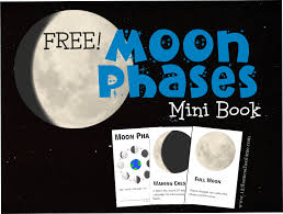 free moon phases mini book instant download free homeschool