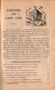 theatre on cape cod massachusetts history preserved