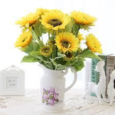 artificial sunflowers artificial flowers flores artificial plants flowers single branch