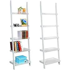 amazon com topeakmart living room white wooden 70 inch 5 tier