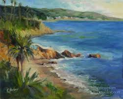 laa beach ss oil painting seascape by california impressionist karen winters