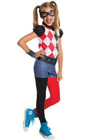 harley quinn arkham city halloween costume dc super hero girls harley quinn child costume hero dc