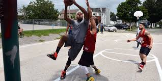 west york barbers and police face off on the court