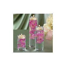 Cylinder Floating Candle Vase Set Of 3 Quick Candles Cylinder Candle Vase Set Of 3 Ebay