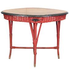 1920s lloyd loom painted wicker table at 1stdibs