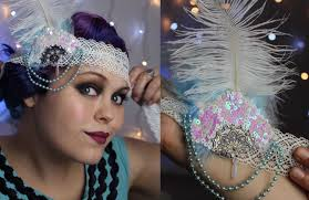 1920 s flapper headband tutorial