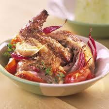 cuisiner lapin au four recette lapin aux tomates confites cuisine madame figaro