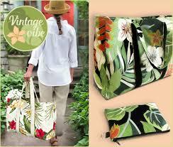the big shopper in tropical barkcloth fabric depot sew4home