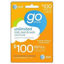 go prepaid card free 100 at t gophone prepaid wireless card instant refill code