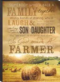 Hay In The Middle Of The Barn Song Amazon Com So God Made A Farmer Hay Bales Inspirational Wooden