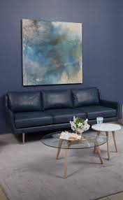Leather Sofa With Studs by 25 Best Blue Leather Sofa Ideas On Pinterest Blue Leather Couch