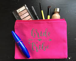 Bridal Party Makeup Bags Wedding Makeup Bag Etsy