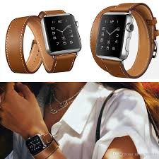 bracelet leather watches images New genuine leather band double tour bracelet leather watchband jpg