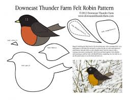 robin pattern pic lots of great patterns for felt birds