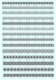 Free Decorative Borders Clip Art Set Of Decorative Borders Royalty Free Vector Clip Art Image 52713