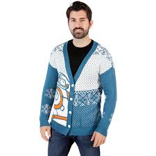 sweater wars wars bb8 droid cardigan sweater