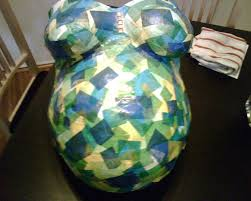 How To Make Paper Mache Belly Cast - blogging for baby what not to get us