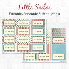 nautical buffet labels little sailor party decoration candy