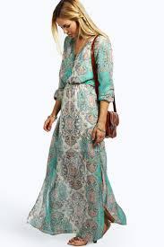 fancy maxi dresses cage detail paisley woven maxi dress boohoo