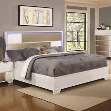 lighted king size headboard coaster 204741kw two tone cal king size bed with led lighted headboard