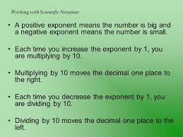 working with scientific notation section 8 5 scientific notation ppt