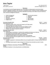 Resume For Accountant Sample by Accounts Payable Resume Berathen Com