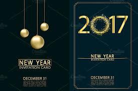 new year invitation new year invitation cards vector illustrations creative market