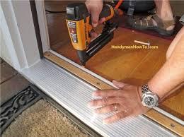 Replacing An Exterior Door Threshold Door Threshold Extender For Exterior Exterior Door Threshold