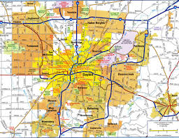 United States City Map by Highways Map Of Dayton Cityfree Maps Of Us