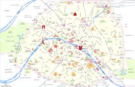 Metro Map Paris by Central Paris Metro Map In Of Central Paris With Landmarks