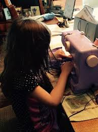 janome portable sewing machine lady lilac joann