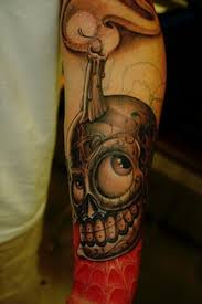 forearm skull tattoos skull candle tattoo on forearm tattoos book