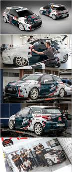 design and wrap of citroen ds3 for cers faster rally team which