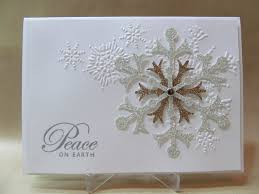 savvy handmade cards peace on earth christmas card
