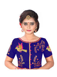 readymade blouses blue banglori silk readymade blouse 117388