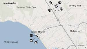 Los Angeles City Map Proposed Venues For 2024 Los Angeles Olympics La Times