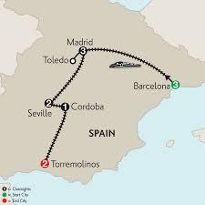Cordoba Spain Map by Monograms Tours Barcelona Madrid With Toledo Seville Cordoba