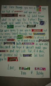 candy s day card beyond the tie 35 fathers day gift s candy bar posters