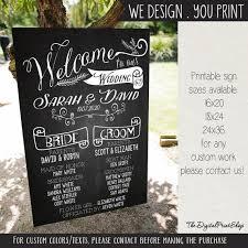 Wedding Program Board Wedding Welcome Sign Program Sign Board By Digitalprintshop